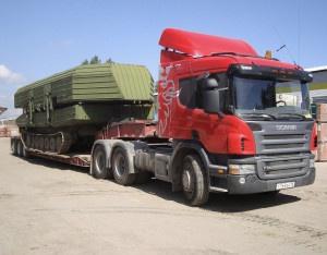 Перевозка военной техники в Украине